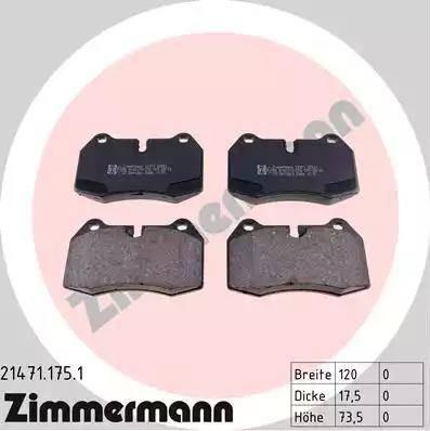 Zimmermann 21471.175.1 - Piduriklotsi komplekt,ketaspidur multiparts.ee