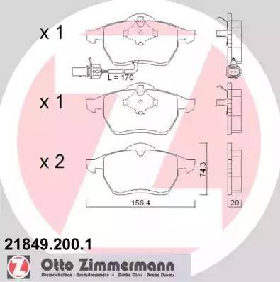 Zimmermann 21849.200.1 - Piduriklotsi komplekt,ketaspidur multiparts.ee