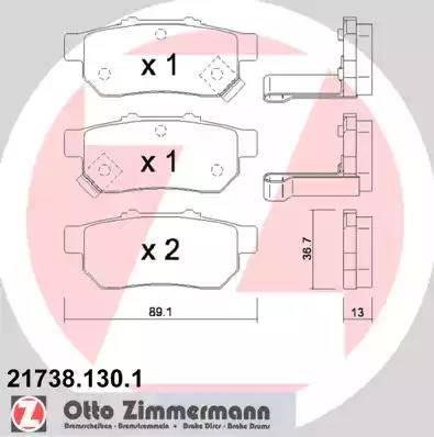 Zimmermann 21738.130.1 - Piduriklotsi komplekt,ketaspidur multiparts.ee