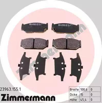 Zimmermann 23963.155.1 - Piduriklotsi komplekt,ketaspidur multiparts.ee
