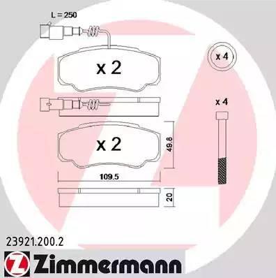 Zimmermann 23921.200.2 - Piduriklotsi komplekt,ketaspidur multiparts.ee
