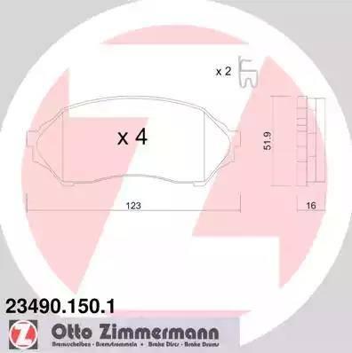 Zimmermann 23490.150.1 - Piduriklotsi komplekt,ketaspidur multiparts.ee
