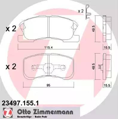 Zimmermann 23497.155.1 - Piduriklotsi komplekt,ketaspidur multiparts.ee