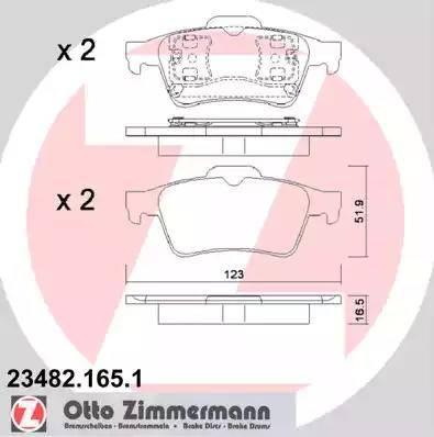Zimmermann 23482.165.1 - Piduriklotsi komplekt,ketaspidur multiparts.ee