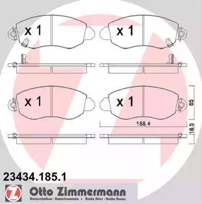Zimmermann 23434.185.1 - Piduriklotsi komplekt,ketaspidur multiparts.ee