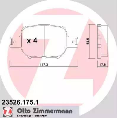 Zimmermann 23526.175.1 - Piduriklotsi komplekt,ketaspidur multiparts.ee