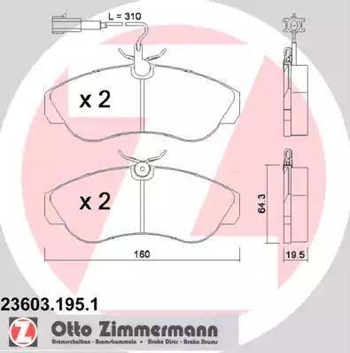 Zimmermann 23603.195.1 - Piduriklotsi komplekt,ketaspidur multiparts.ee