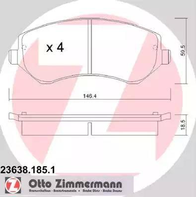 Zimmermann 23638.185.1 - Piduriklotsi komplekt,ketaspidur multiparts.ee