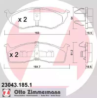 Zimmermann 23043.185.1 - Piduriklotsi komplekt,ketaspidur multiparts.ee