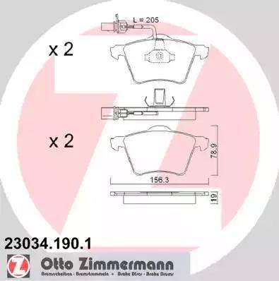 Zimmermann 23034.190.1 - Piduriklotsi komplekt,ketaspidur multiparts.ee