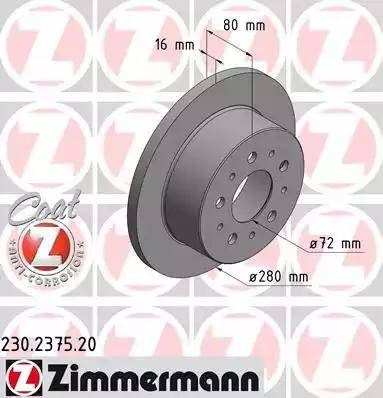 Zimmermann 230.2375.20 - Piduriketas multiparts.ee