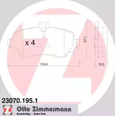 Zimmermann 23070.195.1 - Piduriklotsi komplekt,ketaspidur multiparts.ee