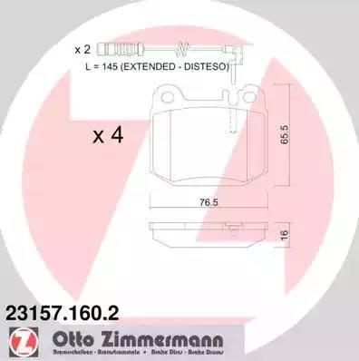 Zimmermann 23157.160.2 - Piduriklotsi komplekt,ketaspidur multiparts.ee