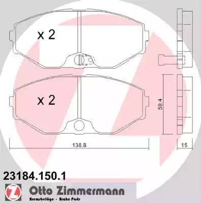 Zimmermann 23184.150.1 - Piduriklotsi komplekt,ketaspidur multiparts.ee
