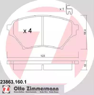 Zimmermann 23863.160.1 - Piduriklotsi komplekt,ketaspidur multiparts.ee