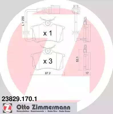 Zimmermann 23829.170.1 - Piduriklotsi komplekt,ketaspidur multiparts.ee