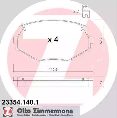 Zimmermann 23354.140.1 - Piduriklotsi komplekt,ketaspidur multiparts.ee