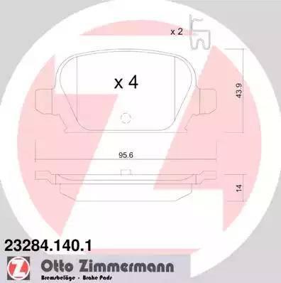 Zimmermann 23284.140.1 - Piduriklotsi komplekt,ketaspidur multiparts.ee