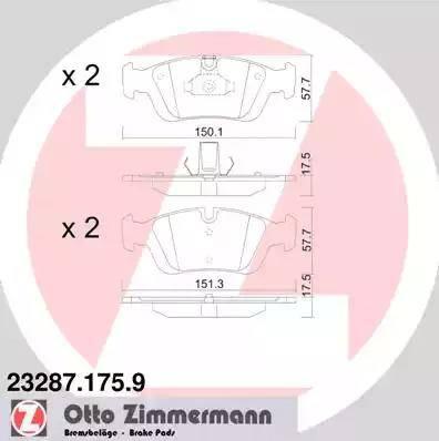 Zimmermann 23287.175.9 - Piduriklotsi komplekt,ketaspidur multiparts.ee