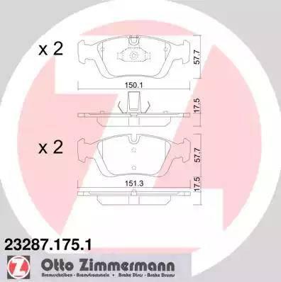 Zimmermann 23287.175.1 - Piduriklotsi komplekt,ketaspidur multiparts.ee