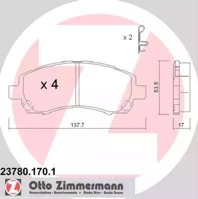 Zimmermann 23780.170.1 - Piduriklotsi komplekt,ketaspidur multiparts.ee