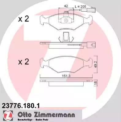 Zimmermann 23776.180.1 - Piduriklotsi komplekt,ketaspidur multiparts.ee