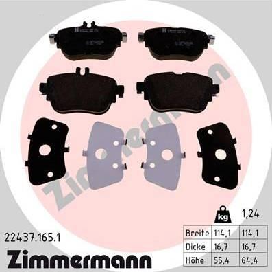 Zimmermann 22437.165.1 - Piduriklotsi komplekt,ketaspidur multiparts.ee