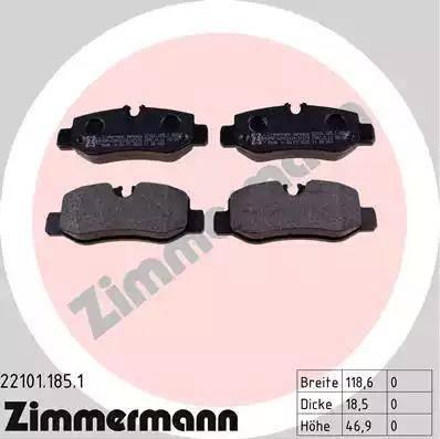 Zimmermann 22101.185.1 - Piduriklotsi komplekt,ketaspidur multiparts.ee