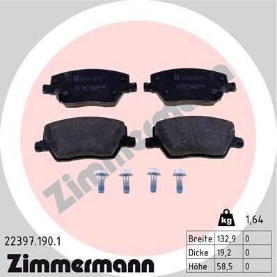 Zimmermann 22397.190.1 - Piduriklotsi komplekt,ketaspidur multiparts.ee
