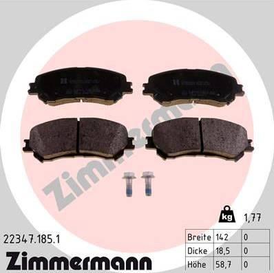 Zimmermann 22347.185.1 - Piduriklotsi komplekt,ketaspidur multiparts.ee