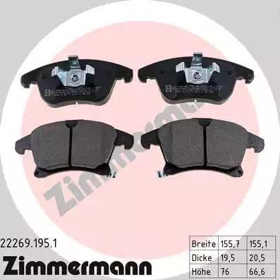 Zimmermann 22269.195.1 - Piduriklotsi komplekt,ketaspidur multiparts.ee