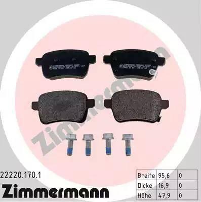 Zimmermann 22220.170.1 - Piduriklotsi komplekt,ketaspidur multiparts.ee