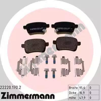 Zimmermann 22220.170.2 - Piduriklotsi komplekt,ketaspidur multiparts.ee